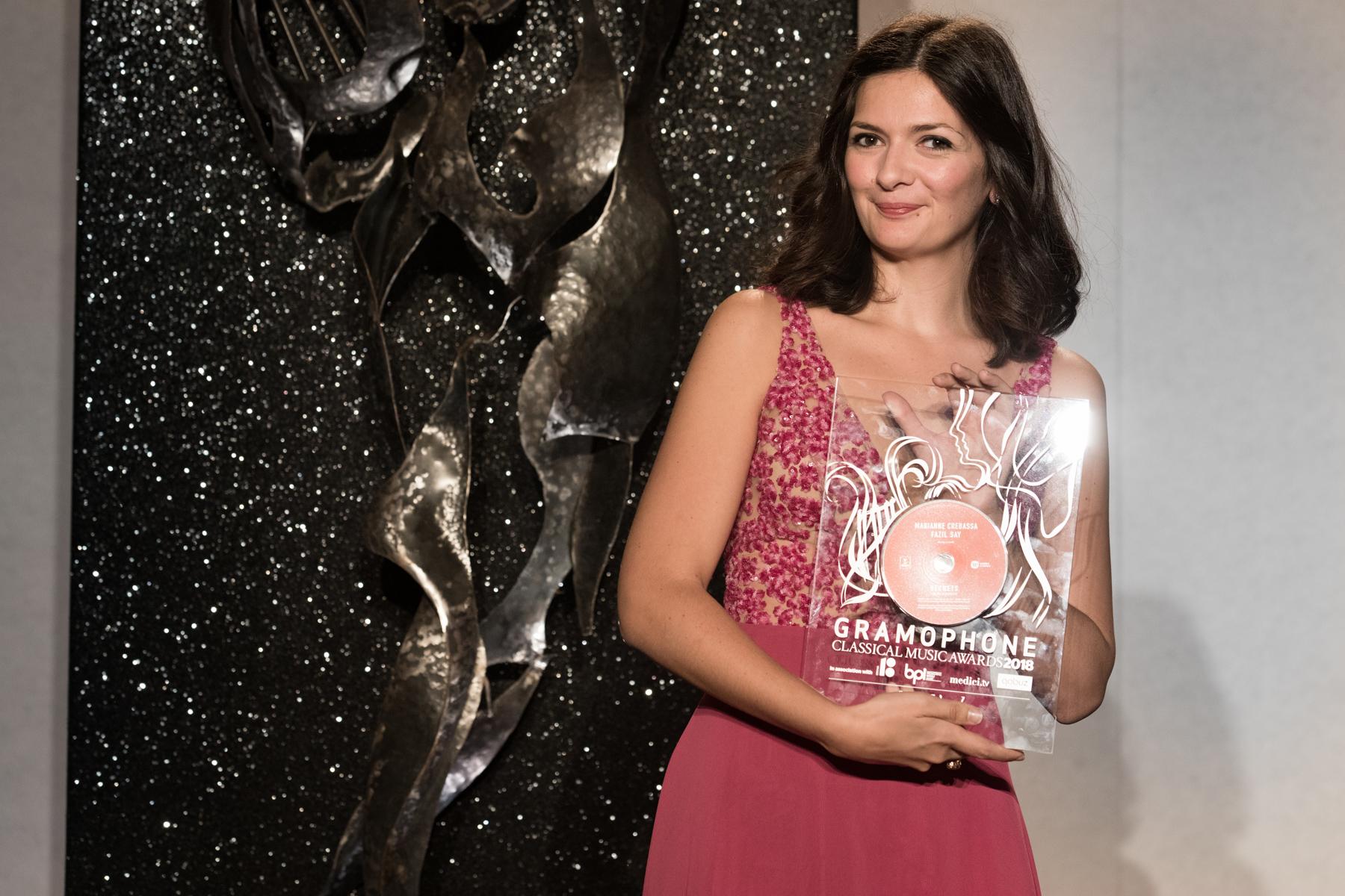 Marianne Crebassa receives the Solo Vocal Award