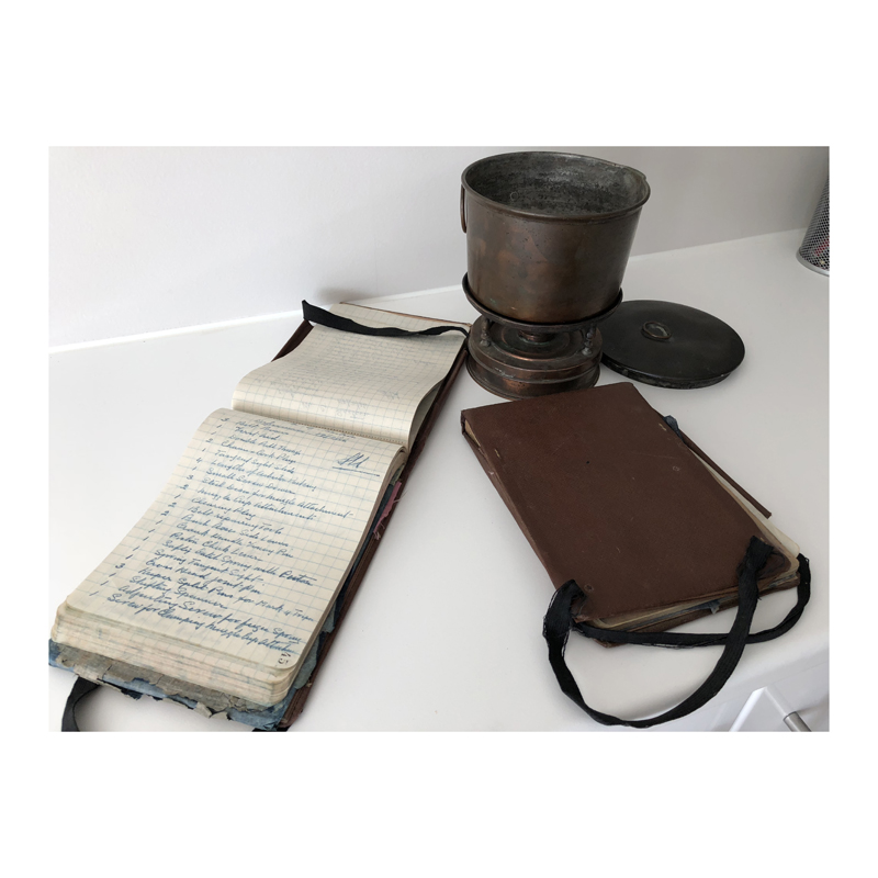 Producer Andrew Sunnucks discovered his grandfather's diaries and mess tin from the trenches in the attic...