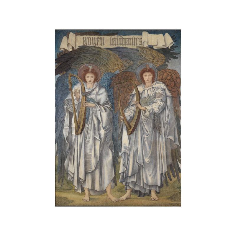 Angeli Laudantes (Salisbury Cathedral) [1878; Coloured chalks on paper, stretched over a canvas covered frame; The Syndics of the Fitzwilliam Museum, University of Cambridge]