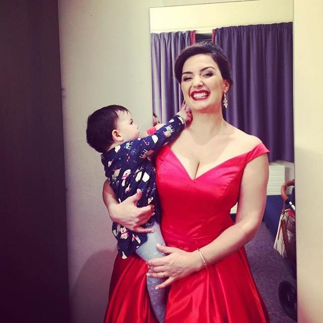 Soprano Anna Patalong with her daughter at Bridgewater Hall