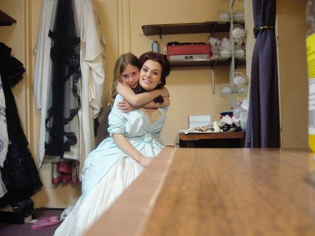 Soprano Anne Sophie Duprels and her daughter at New York City Opera