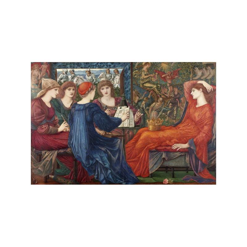 Music-making appears throughout the work of Edward Burne-Jones, including the painting Laus Veneris [1873-8; oil paint on canvas; Laing Art Gallery, Tyne & Wear Archives & Museums]