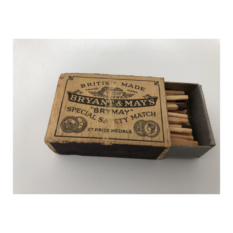 …and even the original box of matches.