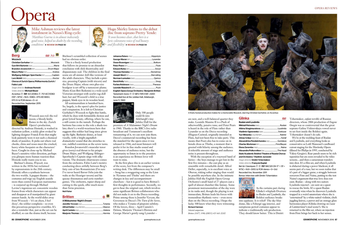 Introducing Gramophone 39 S November 2016 Issue