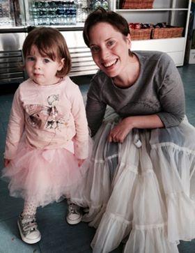 Rebecca Bottone with her daughter at Scottish Opera
