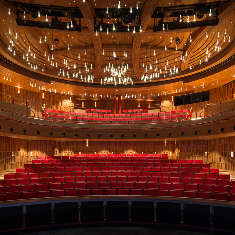 The theatre incorporates 40 per cent more seating than previously through the addition of a balcony, as well as a larger orchestra pit, a stage wing and a fly tower. The larger orchestra pit allows for an expanded repertoire choice, from early to modern opera and musical theatre.