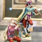 Figurines from a Chelsea porcelain orchestra
