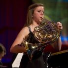 Brass category winner, 18-year-old french horn player Anna Douglas