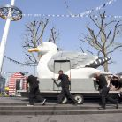 A Mobile Gull Appreciation unit by artist Mark Dion