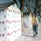 The Seaside area includes 14 artist-designed beach huts, created in partnership