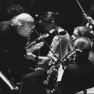 With Gennady Rozhdestvensky at the Concertgebouw, 1998 (Camilla Van Zuylen)