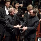 Concert's end - a satisfied Stephen Hough and Osmo Vänskä