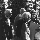 Herbert von Karajan, Ted Heath, EUYO co-founder Joy Bryer, and Anne-Sophie Mutte