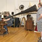 The demonstrations showcased the art of inscribing sound onto wax cylinders via