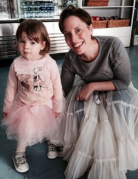 Rebecca Bottone with her daughter at Scottish Opera