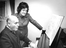 With Solti in 1974 rehearsing Salome (Terry/the Rosenthal Archives of the Chicago Symphony Orchestra)