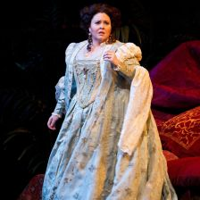 Soprano Angela Meade appears as Elvira in the Met's Ernani (photo: Marty Sohl/Me