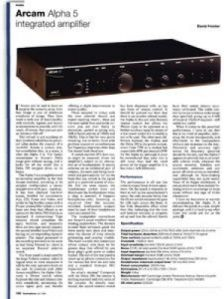 review arcam alpha 5 integrated amplifier gramophone co uk rh gramophone co uk Army Arcam Medal Arcam Ribon
