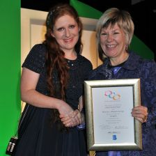 Cheryl Frances-Hoad receives one of two awards (Photo by Mark Allan)