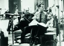 John Culshaw (right) with Georg Solti (Decca)