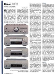 Review Denon D F10 Mini System Gramophone Co Uk