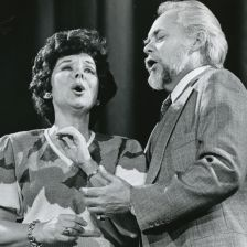 Evelyn Lear with her husband Thomas Stewart at the Kennedy Center, Washington DC