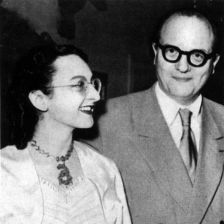 Yvonne Loriod, with her husband Olivier Messiaen-photo: Tully Potter Collection
