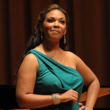 American soprano Janai Brugger received First Prize for a female singer in Domin