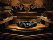 The Berliner Philharmoniker on stage at the Philharmonie (photo: Haenel