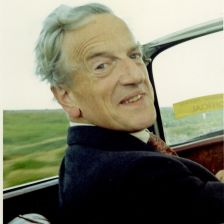 Pears in Britten's Alvis, 1970 (photo: Courtesy of the Britten Pears Foundation)