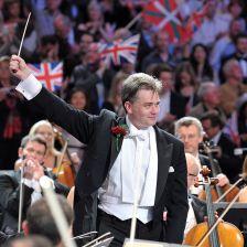 Edward Gardiner conducting the Last Night (photo: BBC/Chris Christodoulou)