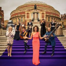 Proms presenter Katie Derham and 2013 Proms artists (BBC / Robert Viglasky)
