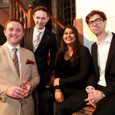 Jamie Walton, Iestyn Davies, Meeta Raval and Sam Okell (Photo: Anna Lytthgoe