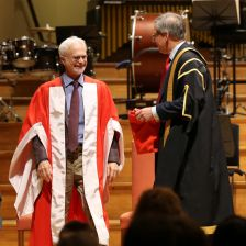 John Adams is awarded his honorary doctorate by RAM Principal, Jonathan Freeman-Attwood