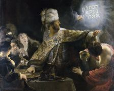 Belshazzar's Feast, as depicted by Rembrandt (c1637)