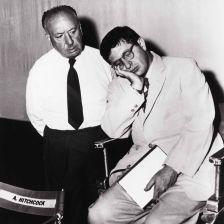 Alfred Hitchcock with a sleepy Bernard Herrmann (Paramount/The Kobal Collection)