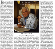Leonard Bernstein Tribute by Edward Greenfield