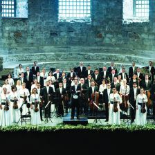 The Borusan Istanbul Philharmonic Orchestra with Principal Conductor Sascha Goetzel perform at the Proms on July 29