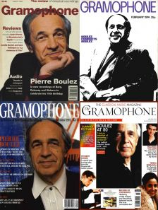 Pierre Boulez on the cover of Gramophone through the years