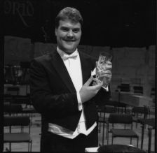 Bryn Terfel winning the lieder prize at the 1989 Cardiff Singer of the World: such events are among the treasures of the BBC's classical archives (copyright: BBC)