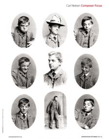 A young Carl Nielsen shows off