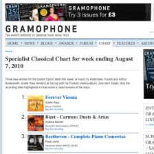 The Specialist Classical Chart: now with reviews