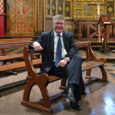 David Trendell, in the chapel of King's College, London whose choir he conducted since 1992