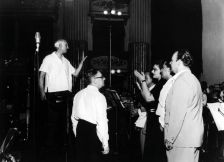 Recording session for the now-legendary Tosca: (left to right) Victor de Sabata, Walter Legge, Maria Callas, Giuseppe di Stefano and Tito Gobbi (photo: Warner Classics)