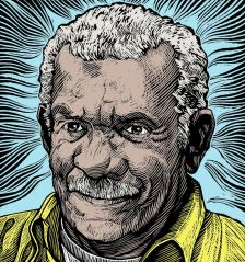 Derek Walcott (by Brian Gallagher)