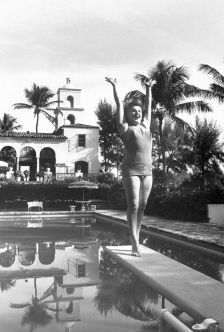Soprano flying high: Birgit Nilsson on a diving board while on holiday in 1960 (photography: Lynn Pelham/The LIFE Picture Collection/Getty Images)