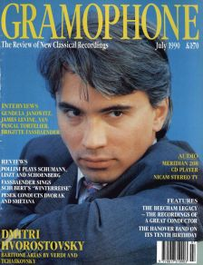 A young Dmitri Hvorostovsky on the July 1990 cover of Gramophone