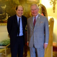 HRH Prince of Wales with Private Passions host, Michael Berkeley (photo: Clarence House)