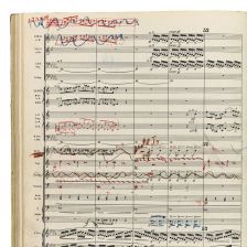 Maher's score of his Third Symphony (credit: Sotheby's)