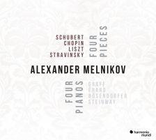 HMM90 2299. Alexander Melnikov : Four Pieces, Four Pianos